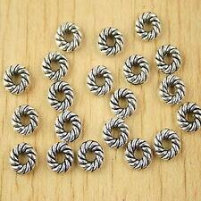 55pcs Tibetan silver spiral spacer beads h2648