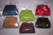 TWO Pebble Texture Faux LEATHER COIN PURSES