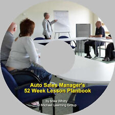 Auto Sales Training - Auto Sales Manager 52 Week Lesson Planbook eBook on CD