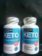 2x Keto Diet Pills BHB Best Ketogenic Weight Loss Supplements 120 caps