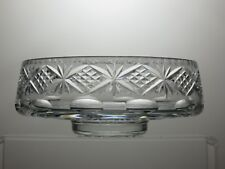 LEAD CRYSTAL CUT GLASS FRUIT SALAD TRIFLE SERVING FOOTED BOWL