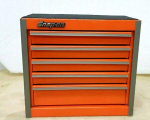 Snap-On New Electric Orange Miniature Bottom Tool Box Base Cabinet Mini Logo
