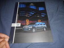 2005 Nissan Infinity QX USA Market Color Catalog Brochure Prospekt