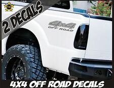 4x4 Truck Bed Decals METALLIC SILVER (Set) for Ford F-150, Super Duty F-250, etc