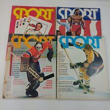 Lot of 4 Sports Magazines Nascar Boxing George Foreman Orr Hockey Vintage
