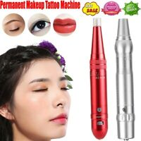 Professional Permanent Makeup Tattoo Machine Eyebrow Lip Microblading Pen Kit