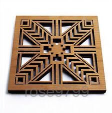 Frank Lloyd Wright Laser Cut Wood Robie Sconce Trivet and Wall Plaque NIB