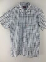 Mens Levi's red tab checked short sleeve shirt size S stock No.G338