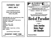 Vintage 1951 Enosburg Falls VT Playhouse Movie Theater Program- Bird of Paradise