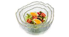 Glass Salad Bowl Set of 3 Transparent Serving Bowl Pyrex Prep Bowls All Purpose