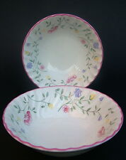 TWO Johnson Brothers Summer Chintz Soup Cereal or Dessert Bowls 15.5cmi in VGC