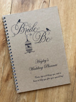 Personalised Brides Wedding Planner Guide,Journal Organiser Vintage Birdcage