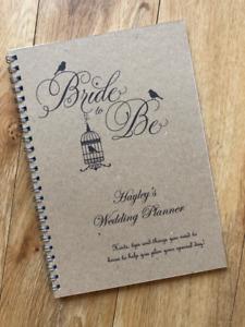 Personalised Vintage Style Brides Wedding Planner,Guide,Journal,Organiser