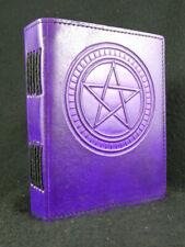 Pentagramme Handmade Journal en Cuir Journal Intime-Pagan Wicca livre des ombres