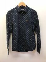 Lyle & Scott Men's Vintage LS Clipped Dobby Shirt - Medium - Navy - New