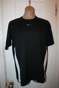 NIKE Black Gym Workout Short Sleeve Shirt Top Youth XL 18-20 Vintage Silver Tag