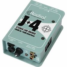 Radial Engineering J+4 Balanced Signal Driver - Stereo Preamplifier 2DAY DELIVER