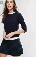 Ladies Jack Tinsbury Cable Merino Wool Jumper Navy Blue UK 10