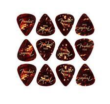 Klasse, traditionelle Vintage Fender 351 Plektren Thin im 12er Set für Gitarren