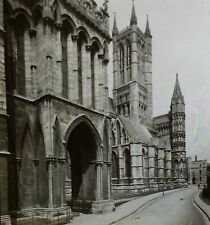 1910, Galilee Porch, Lincoln Cathedral, England, Magic Lantern Glass Slide
