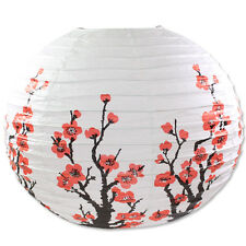 "16"" Chinese Japanese White Cherry Blossom Sakura Paper Lantern Wedding Decor"