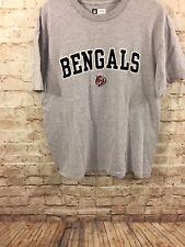 NFL Team Apparel Cincinnati Bengals Gray T-Shirt Mens Large *A