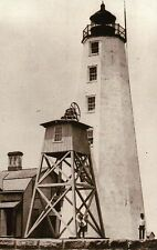 Lynde Point Lighthouse Fenwick Connecticut 1885, Long Island Sound CT - Postcard