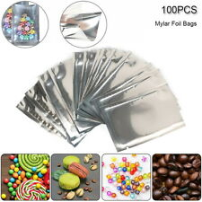 100x Smell Proof Heat Seal MYLAR Alluminium Foil Bag Pouch Storage Vacuum Sealer