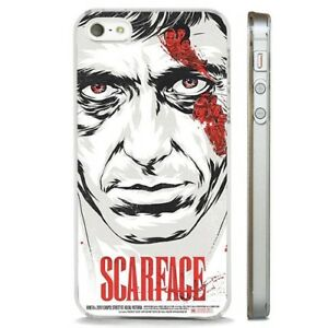 Scarface Tony Montana Poster CLEAR PHONE CASE COVER fits iPHONE 5 6 7 8 X