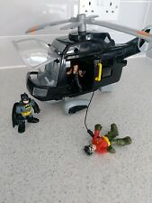 Imaginext Batman Helicopter And Figures Bundle Figure In Excellent Comdition