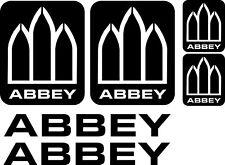 ABBEY CARAVAN | Sticker Decal | Various Colours | Vinyl | FREE POST | (BB127)
