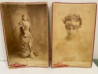 Antique Cabinet Card Photo LOT 2 Actress Ada Rehan Sarony 1886 Charles Ritzmann