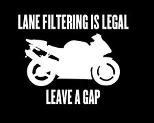 Lane Filtering Is Legal Sticker Vinyl Decal Motorbike JDM Ute Car 4x4 Motorcycle