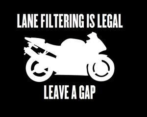 Lane Filtering Is Legal Sticker Vinyl Decal Motorbike Motorcycle Ninja Yamaha