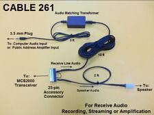 Cable 261 Audio Recording & Streaming Adaptor Motorola MCS2000 MCS 2000 VHF UHF