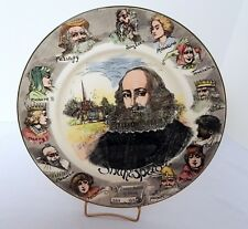 Vintage Royal Doulton Shakespeare Plate D6303 Transferware Characters on Border