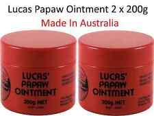 2 x 200g LUCAS PAPAW Ointment Nappy Rash Cream PAW PAW Lip Balm Gloss / Cracked