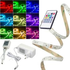 (4,98€/m) 5m RGB Led Stripe Komplett-SET 230V mit Sound-Control Musik-Steuerung