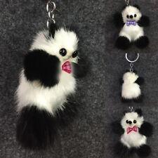 Best Quality Mink Faux Fur Panda Car Key Chain Bag Backpack Pendant Accessory