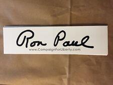Campaign For Liberty RON PAUL Signature BUMPER STICKER 2012