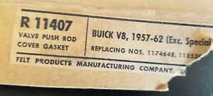 1957-62 Buick V8 Valve Push Rod Cover Gasket - Part Number R11407 - Made in USA