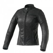 Clover Bullet pro Lady Black Jacket Skin Women Cafe' Racer-Urban TG 40-1802