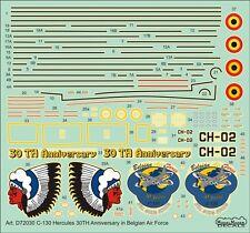 C-130 HERCULES 30TH ANNIVERSARY, BELGIAN AF MKGS #7230 1/72 MODELMAKER