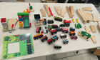 HUGE  Lot of Thomas the Train Wooden Railway Tracks, cars Abbey Switch
