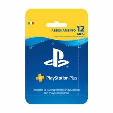 ABBONAMENTO PLAYSTATION PLUS 12 Mesi 365 GIORNI PSN PS4 PS3 PS Vita ITALIA