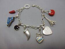 schönes Thomas Sabo Armband mit 8 x Charm aus Silber 925 punziert #1