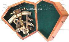 Brass Ship Sextant - Brass Marine Sextant - Kelvin & Hughes London 1917 with Box