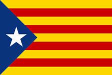 La Catalogne Catalan Indépendance drapeau bleu estelada blava Espagne 40mm autocollants x6