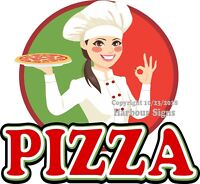 Pizza DECAL (Choose Your Size) Chef Food Truck Concession Vinyl Sign Sticker