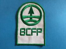 Rare Vintage 1970's BCFP British Columbia Forrest Products Jacket Uniform Patch